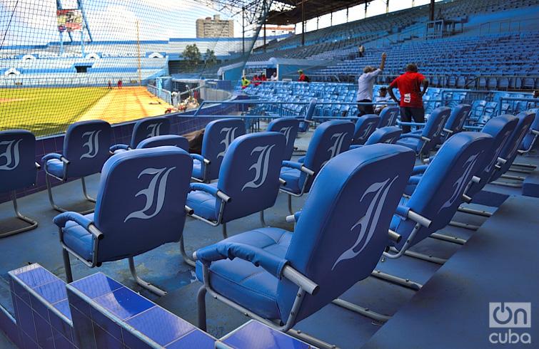 Área especial para visitas importantes que asistan a presenciar el juego. Foto: Otmaro Rodríguez.