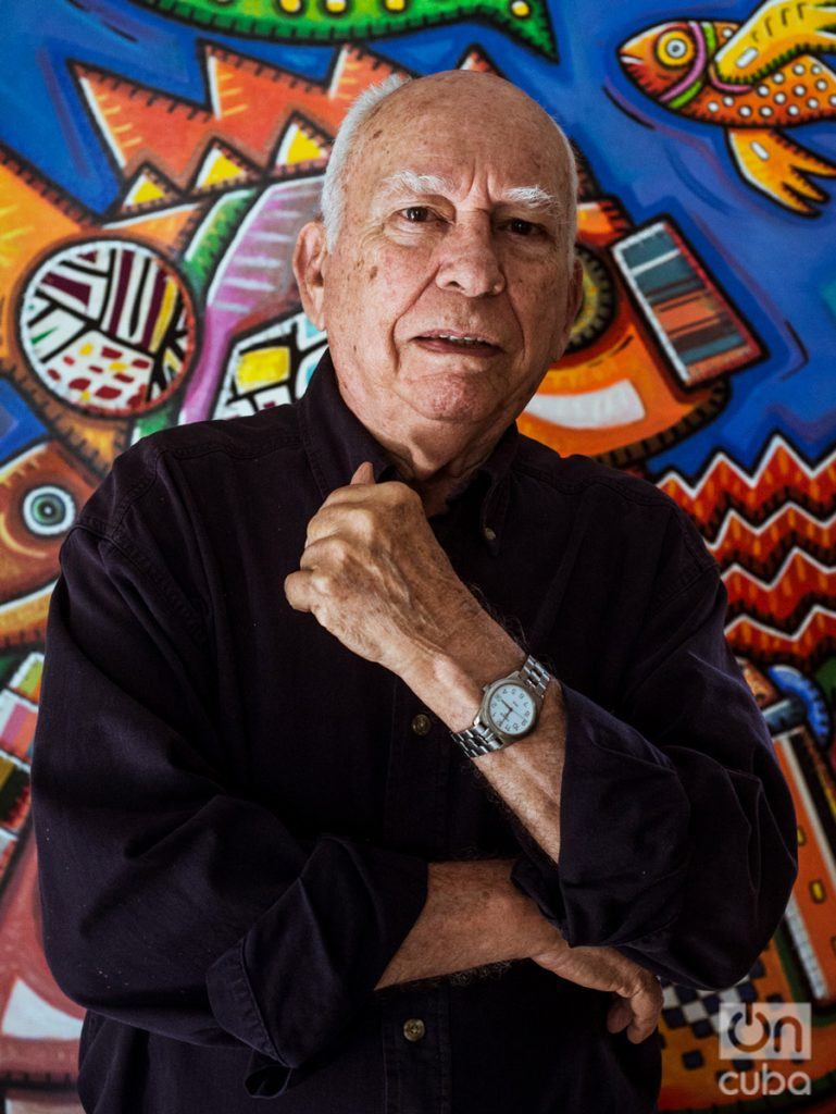 Alfredo Sosabravo. Foto: Jorge Luis Borges.